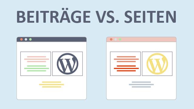 WordPress Beiträge vs. Seiten