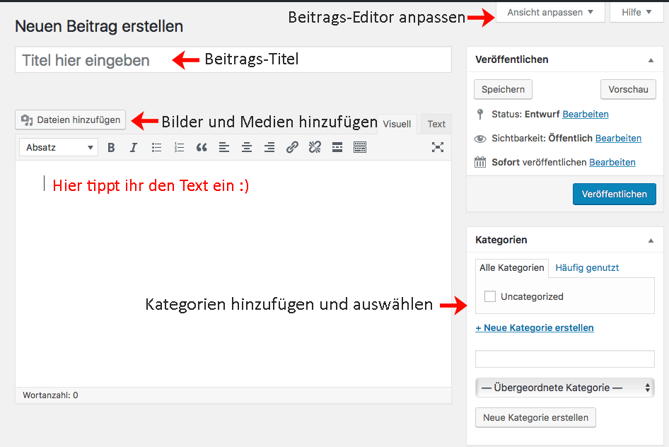WordPress Texteditor
