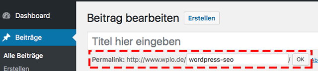 URL anpassen mit WordPress