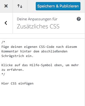 Zusätzliches CSS hinzufügen mit Divi