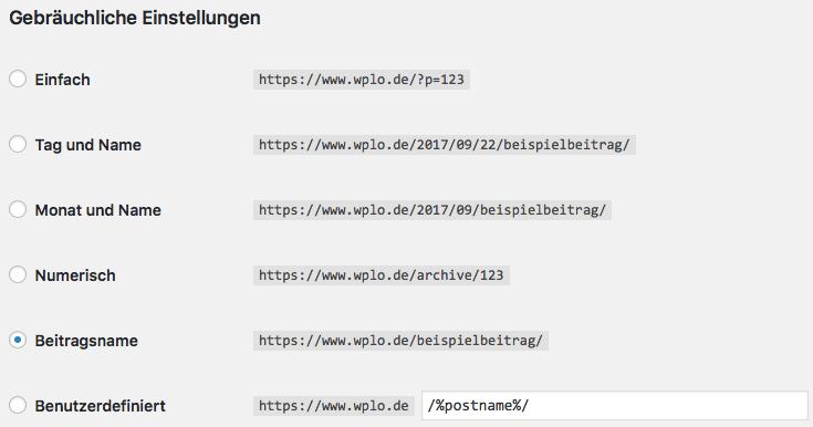 URL Struktur mit WordPress ändern
