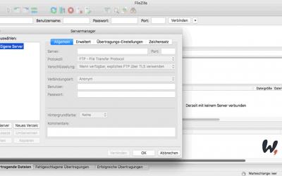 WordPress Tutorial: Mit FileZilla verbinden und Daten übertragen
