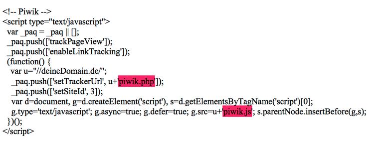 Den Piwik Tracking Code komprimieren