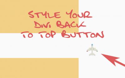 Bild als Back To Top Button verwenden mit Divi