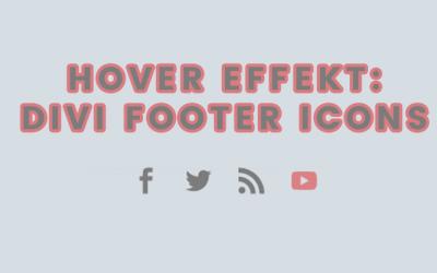 Divi Footer: Social Media Icon Hover Effekt