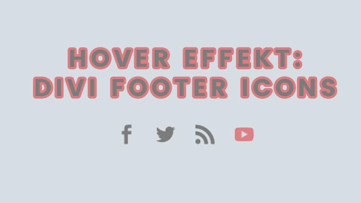 Divi Footer Social Media Icons Hover
