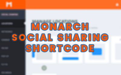 Monarch Social Sharing Shortcode erstellen