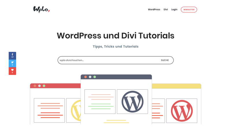 WordPress und Divi Theme Tutorials