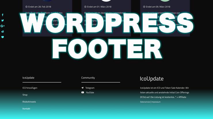 WordPress Footer Hintergrundfarbe ändern