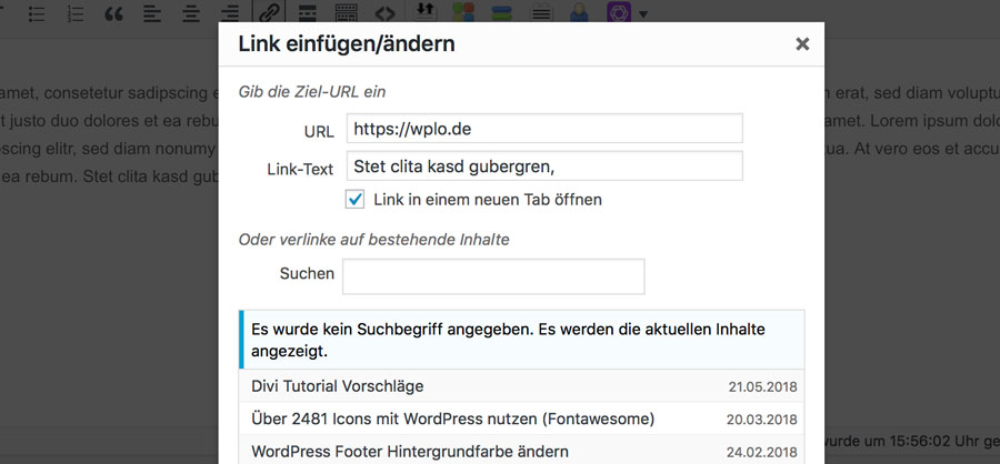 Link-setzen-mit-WordPress